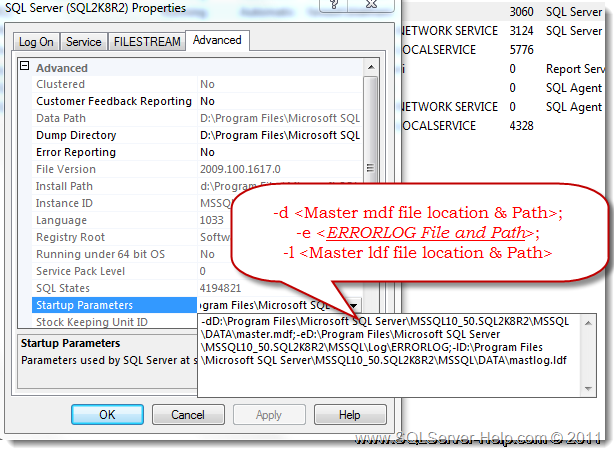 Error Log: Help : Where Is SQL Server ErrorLog? « Help: SQL Server