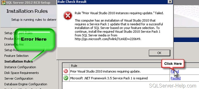 Help: Getting Visual Studio Service Pack Error while