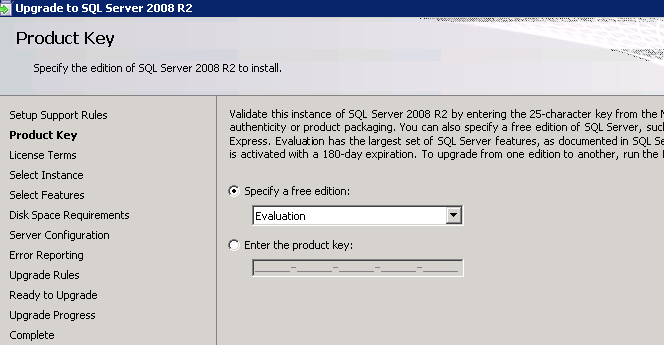 change license key sql server 2012