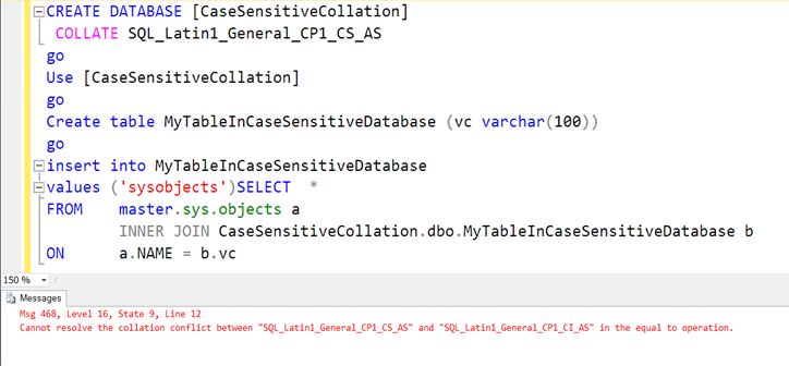 Help : Getting error – Cannot resolve the collation conflict « Help